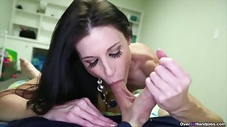 Adorable MILF offers her step laddie the blowjob of his life