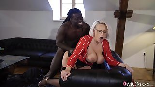 Mature with majuscule knockers, insane black porn in doggy scenes