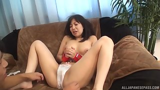 Ueno Naho likes getting will not hear of pussy teased while she's tied up