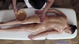Nice massage leads to passionate fucking in the air sexy model Lara