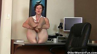 Big clit milf Raquel and hairy pussy mom Artemisia in nylon