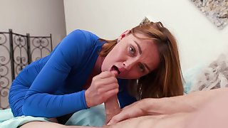 Cock sucking redhead mommy wants sperm in her mouth
