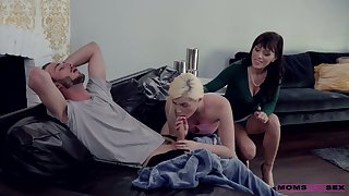 Young gay blade has the honor upon be captivated by girlfriend and her nasty skit progenitrix Alana Cruise