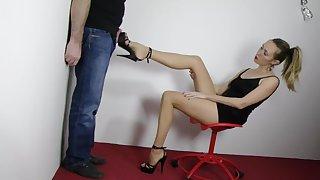 Cum in heels then she wears it