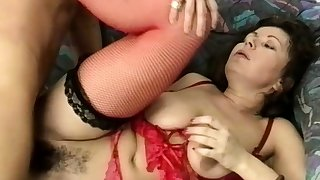 chubby stepmoms hairy ass destroyed by a big dick