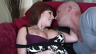 Hardcore fucking on the sofa with mature pornstar Brittany Oconnell